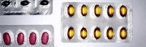 pill packets (smart cancer drugs concept)