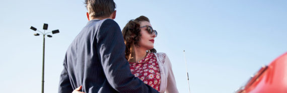 retro couple outdoors - benevolent sexism