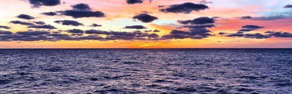 skies over the Atlantic ocean
