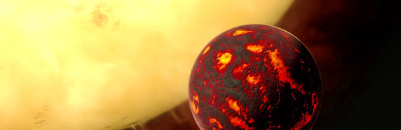 exoplanet and star - super-Earth 55 Cancri e