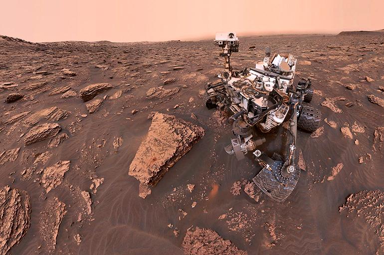 Mars Curiosity selfie