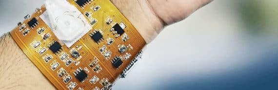 smart wristband on arm
