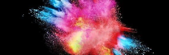 color explosion on black (eta carinae concept)