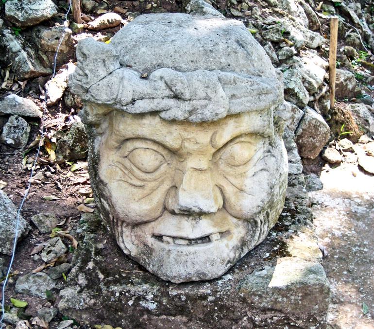 Maya god statue