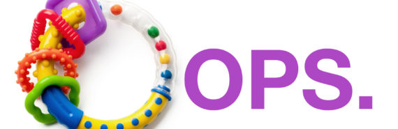 oops spelled with baby rattle - unplanned pregnancies