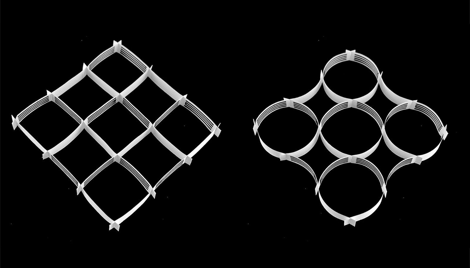 paper actuators - lattice shapes