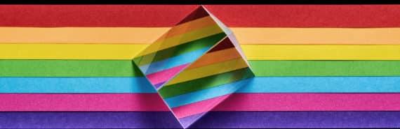 rainbow through prism (nanophotonics concept)