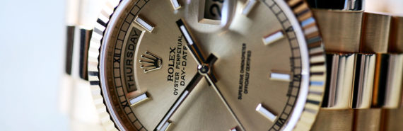 Rolex close-up (luxury brands concept)