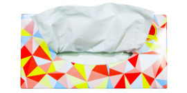 colorful tissue box from above - influenza transmission