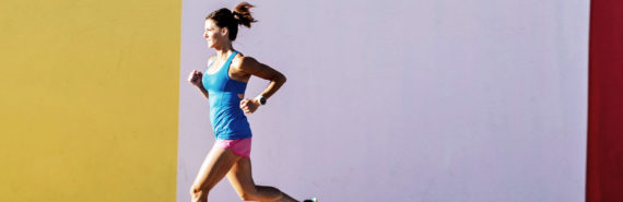woman running - aerobic exercise