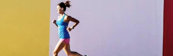 woman running - aerobic exercise