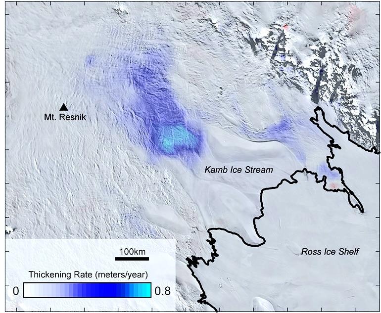 Elevation change map