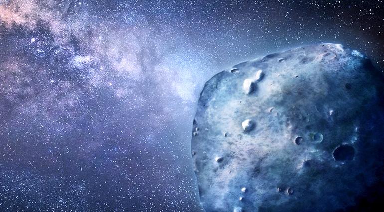 Phaethon asteroid (blue asteroid concept)