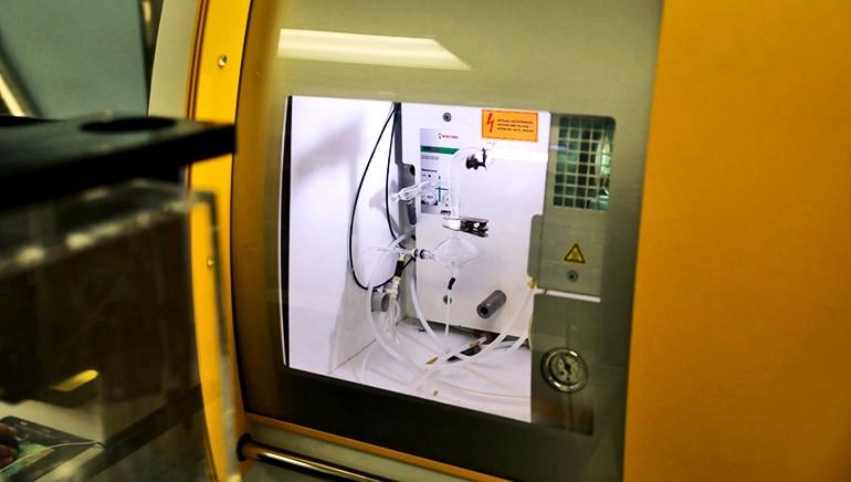 inductively coupled plasma mass spectrometry machine at NYU