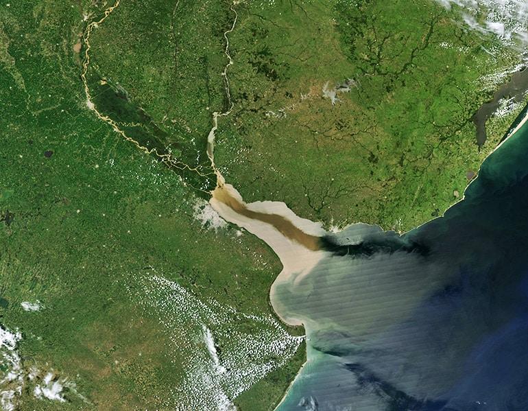 Río de la Plata satellite view