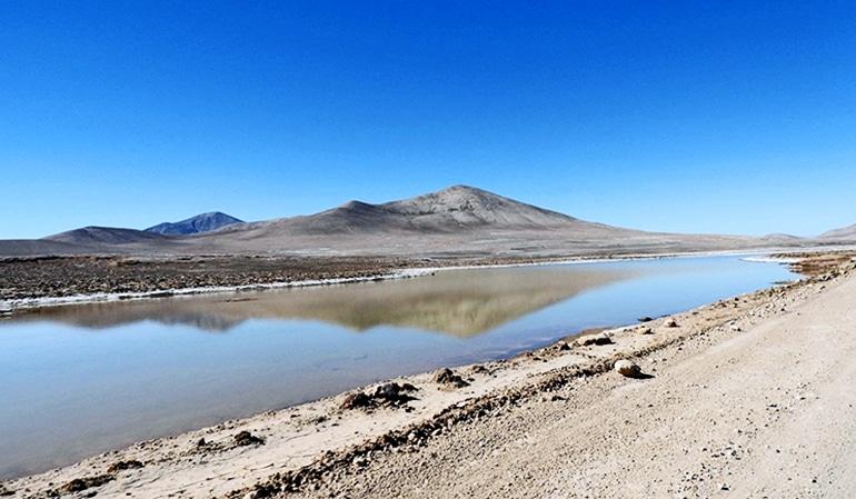 A small lagoon in the Atacama Desert