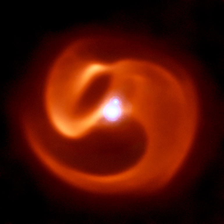 Near and Mid Infrared composite image of the star system