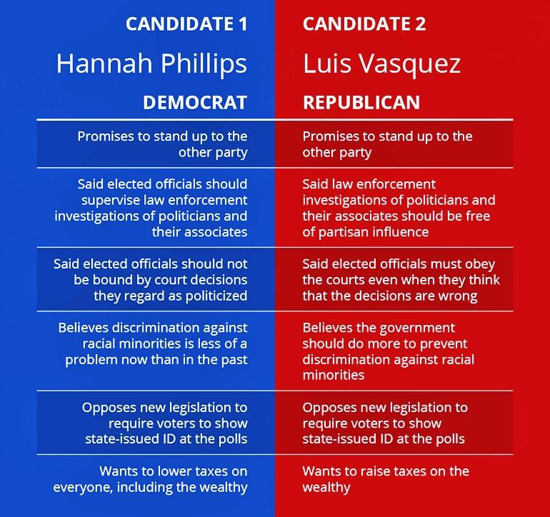 partisanship fake candidates