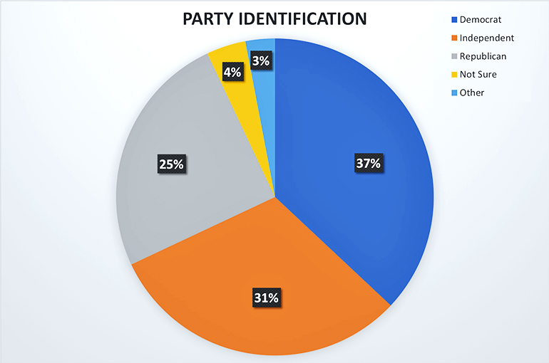 party identification pie chart