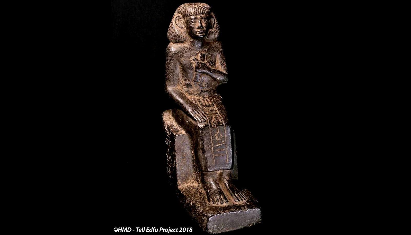 Statuette of the seated scribe of the province of Edfu.