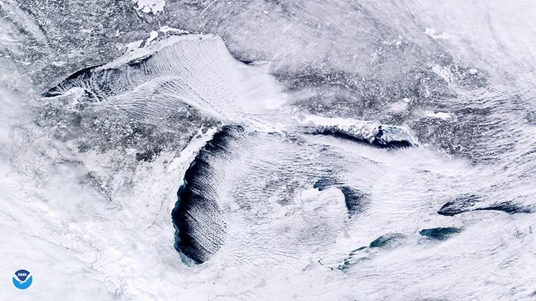 great lakes under polar vortex