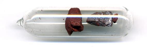 vial of red phosphorus sample