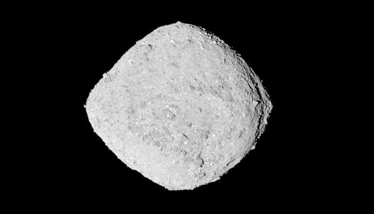 Bennu asteroid on black