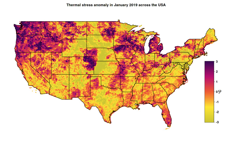 Free Drought Eye Maps Depict Thermal Stress Futurity - Drought-map-us