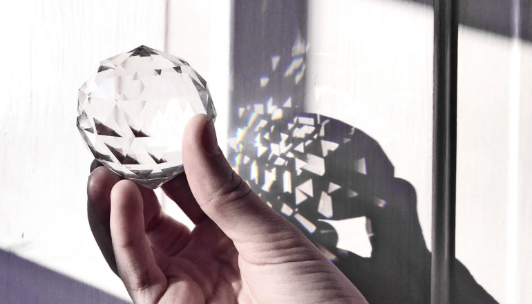 holding crystal ball (solar panels concept)
