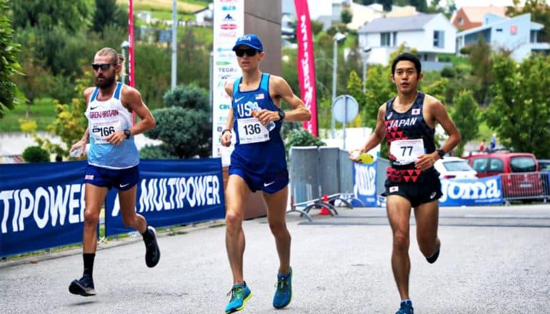 Elite marathoner and PhD student in kinesiology Geoff Burns