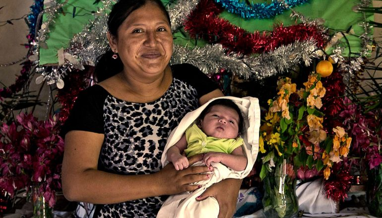 A Yucatec Maya mother and newborn baby.