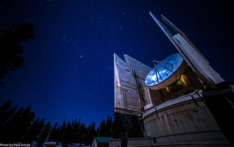 The Submillimeter Telescope magnifies the evening sky