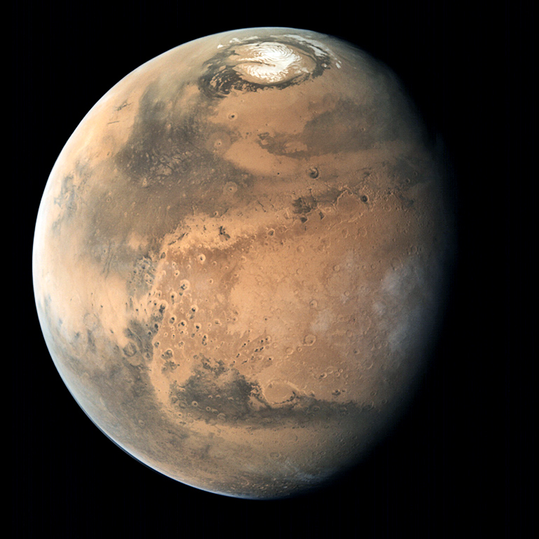 Buried North Pole Ice On Mars Dates To Ancient Past