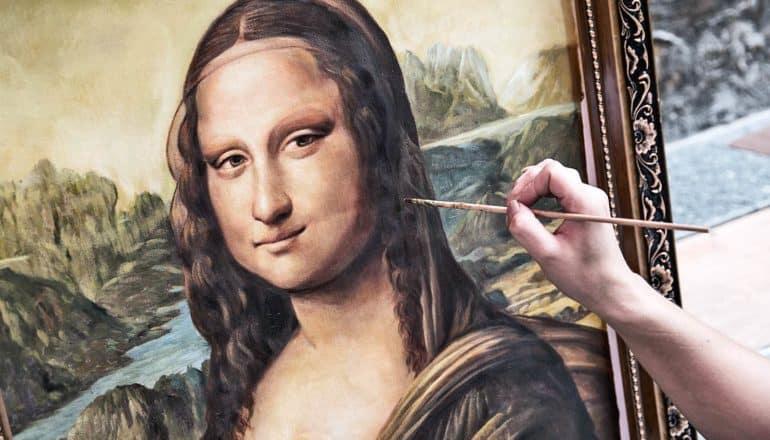 Mona Lisa replica (robot concept)
