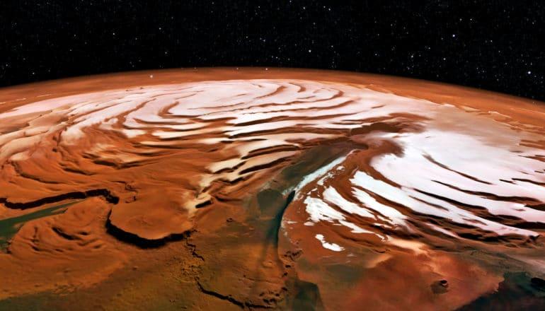 Mars' north polar cap