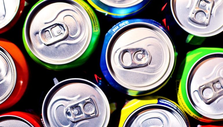 nationwide soda tax - soda cans from above