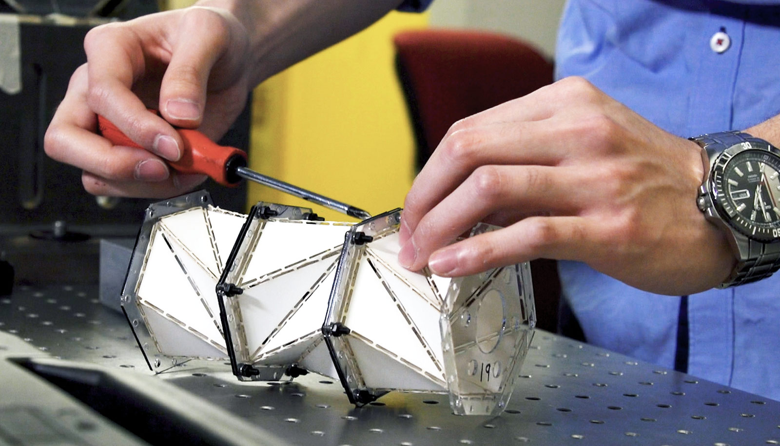 'Origami' metamaterial softens impact forces