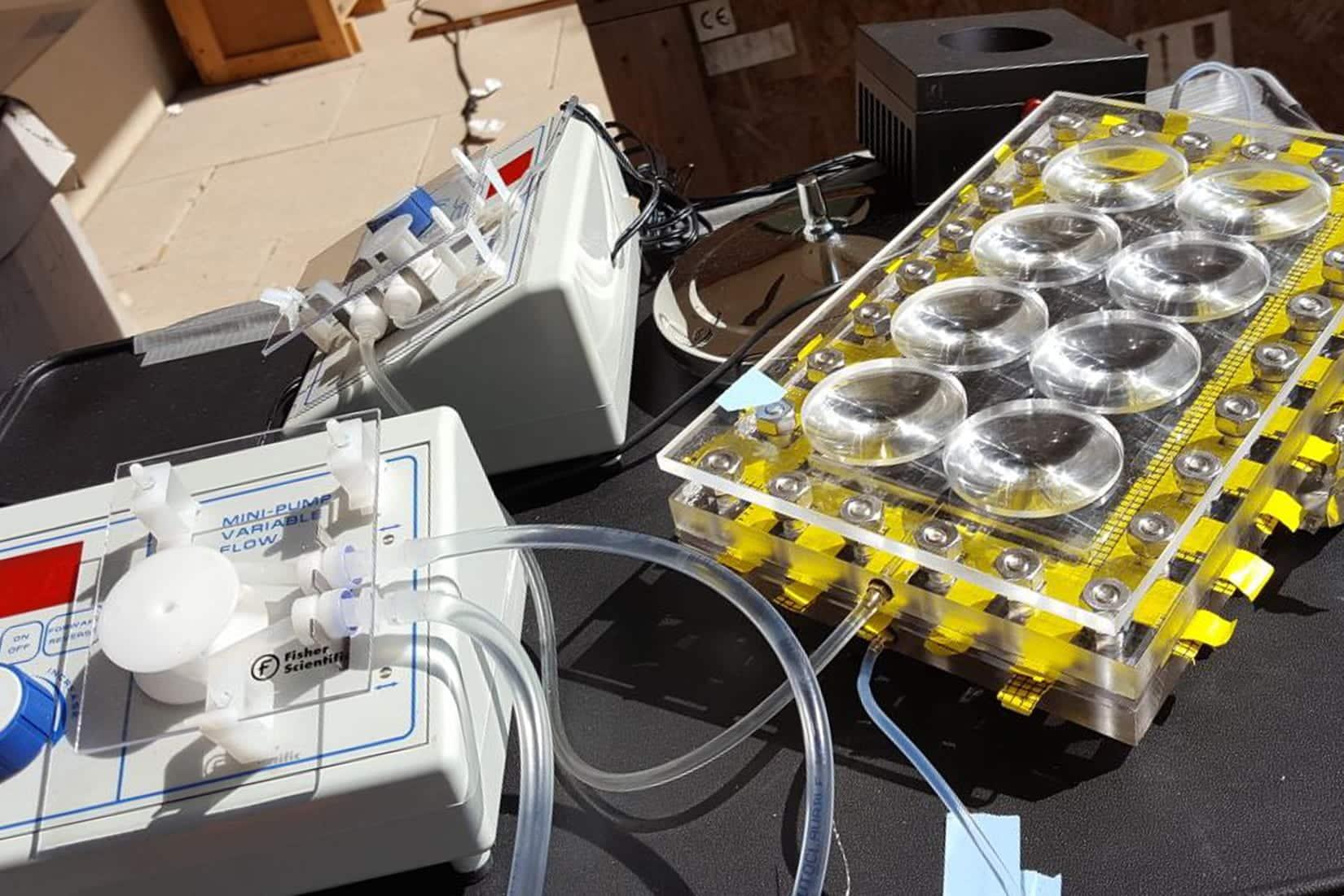 solar-powered desalination set-up