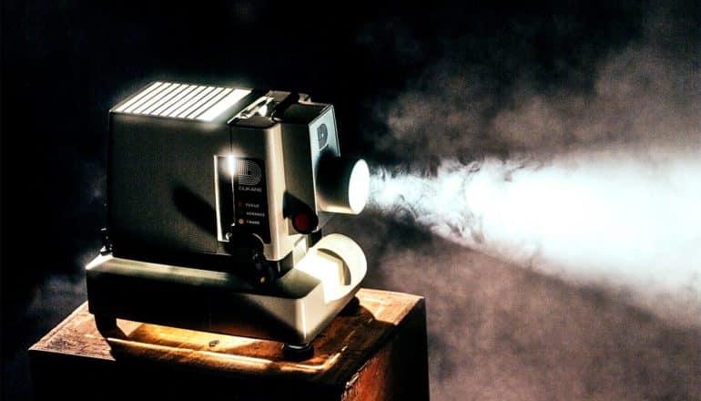 projector in the dark (molecular motions concept)