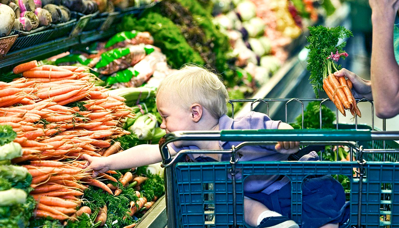 Some (but not all) new parents buy more fruits and veggies