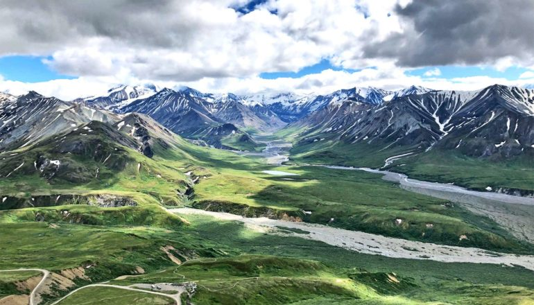 tundra near Denali National Park in Alaska (climate change concept)
