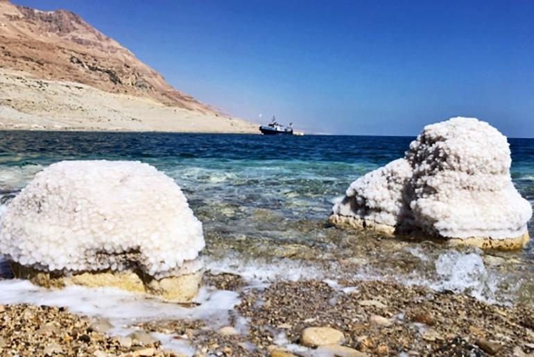 Dead Sea snow salt