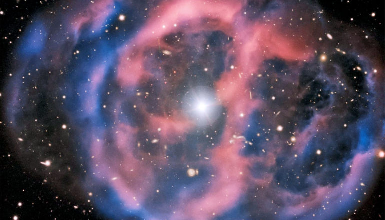 The nebula remains of a dead giant star around a subdwarf O star. (hot subdwarf pulsators concept)