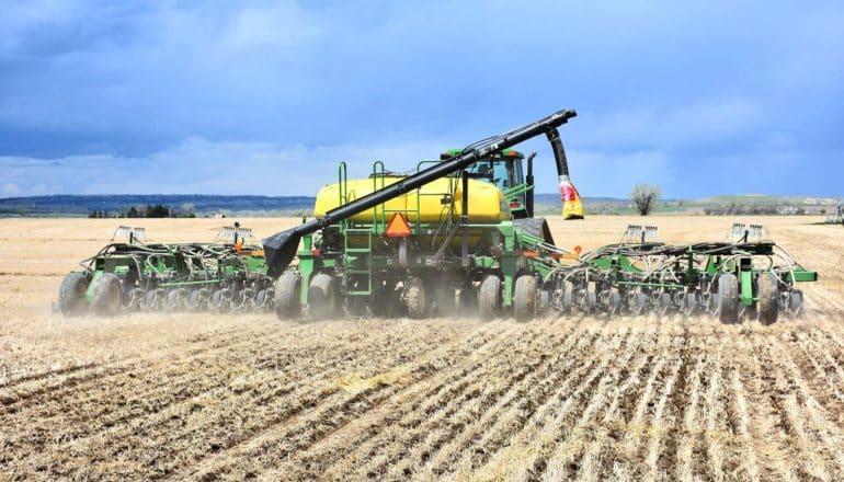 planter machine in field