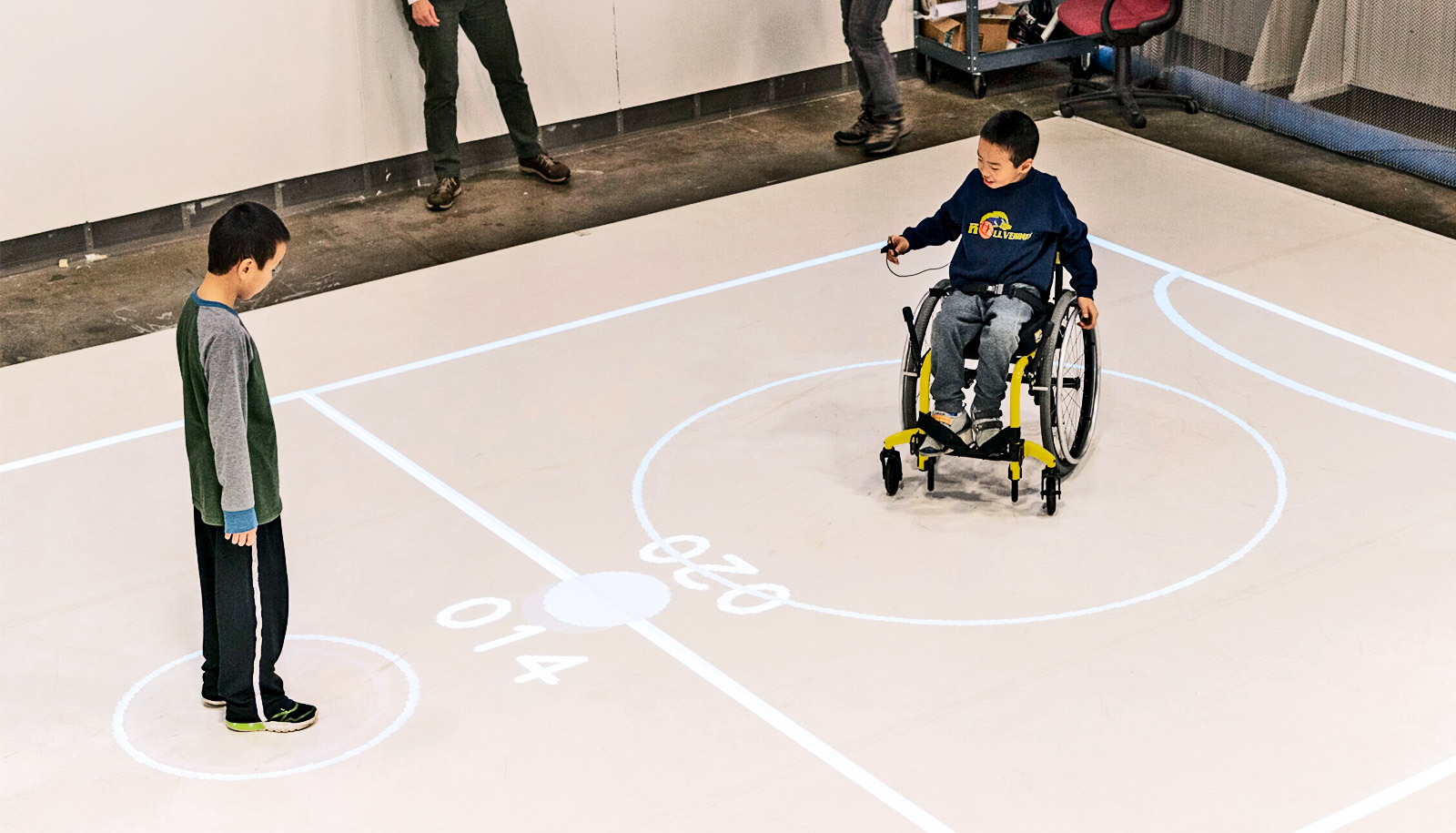 Kids with and without disabilities play together in iGYM