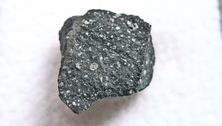 black speckled rock with irregular edges