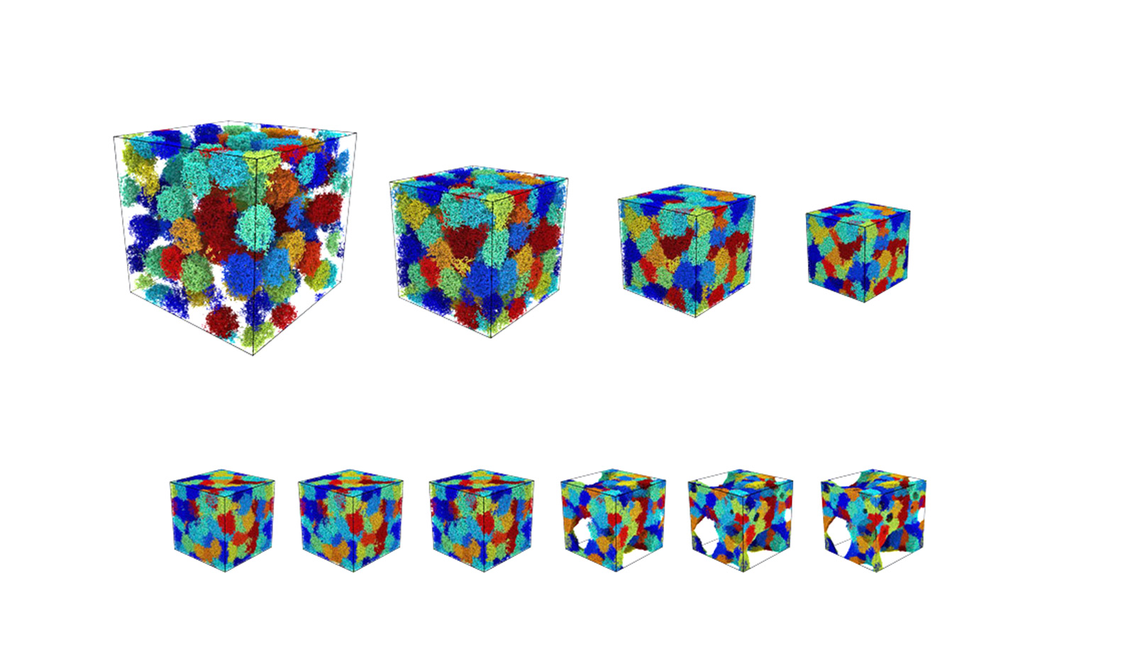 Simulations compress 'fluffy' microgel suspensions