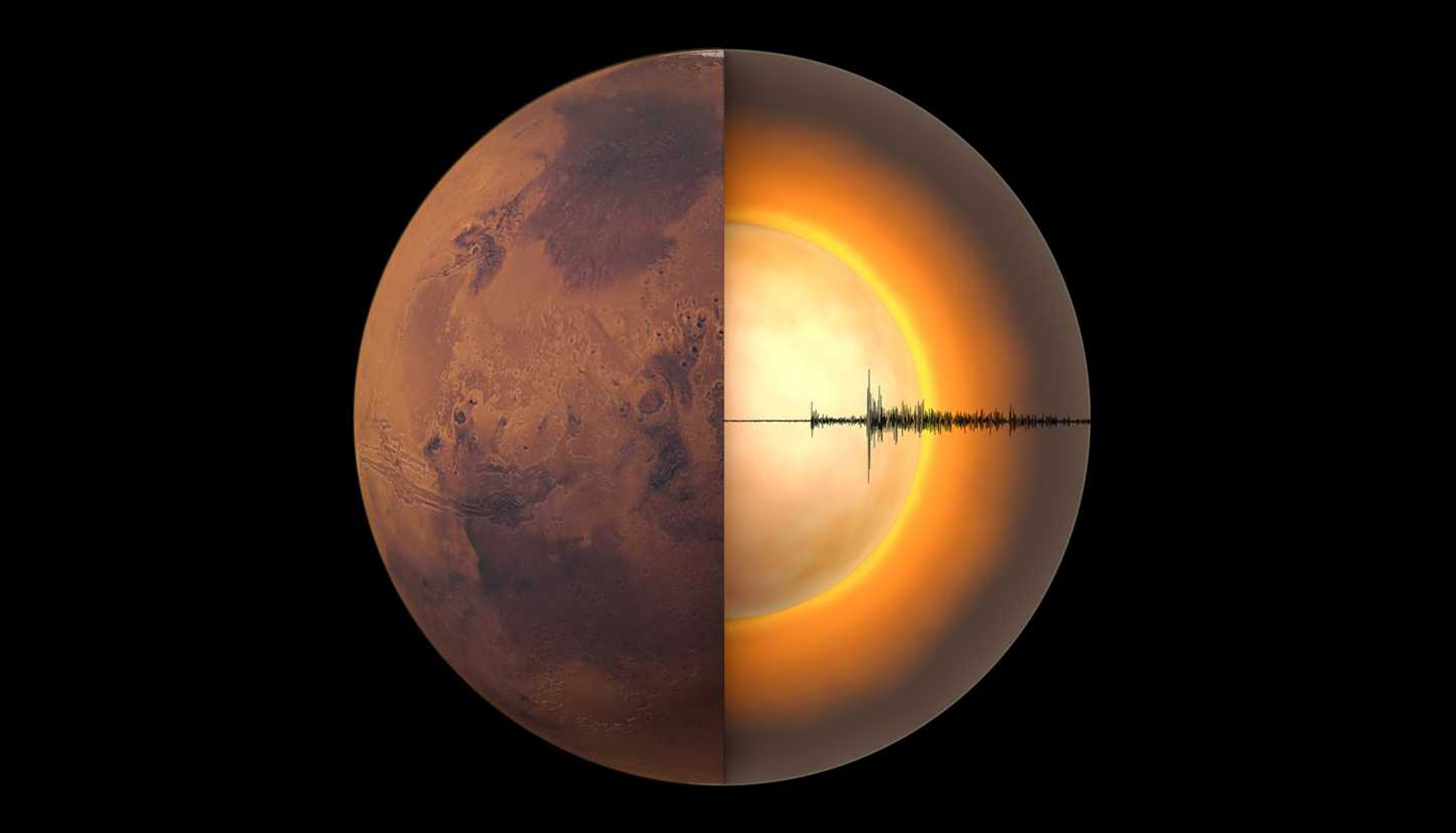 Crust, mantle, and core of Mars are quite different from Earth's –